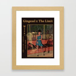A Gingezel Sci Fi Poster of Mitra Framed Art Print