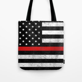 Thin Red Line Flag Tote Bag