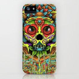 Cute Skull Dia de Los Muertos iPhone Case