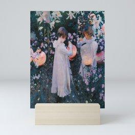 John Singer Sargent's Carnation, Lily, Lily, Rose Mini Art Print