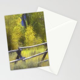 Modified Birch Trees in the Fall Stationery Cards