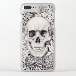 Skull and Flowers Vanitas Clear iPhone Case
