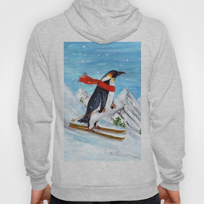 Penguin Alpine Skiing Hoody