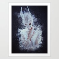 nightmare Art Prints featuring Nightmare by Kryseis Retouche