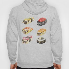 Sushi Pug Watercolor Hoody