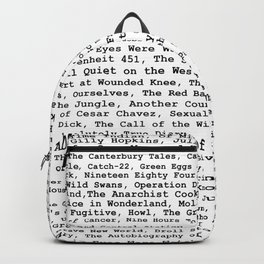 Banned Literature Internationally Print Backpack