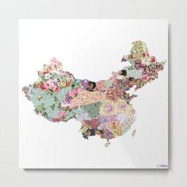 China map Metal Print
