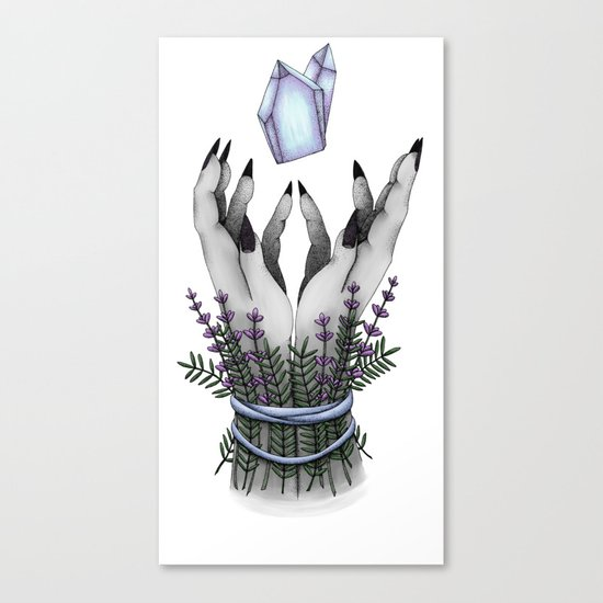 crystal hands colored Canvas Print