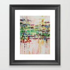 ABSTRACTION island Framed Art Print