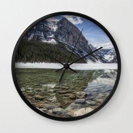 Lake Louise, Mid May, Mid Day Wall Clock