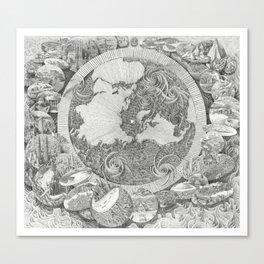 Mappa Mundi (Map of the World) Canvas Print