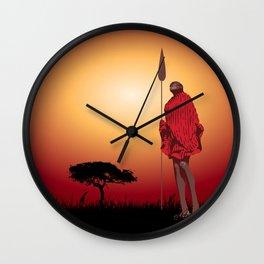 Masai & Africa Wall Clock