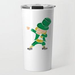 Happy St Patrick's Day Leprechaun Clover Shamrock Lacrosse Beer Fest Gift Travel Mug