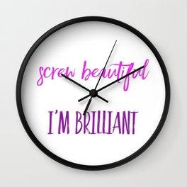Screw beautiful Wall Clock