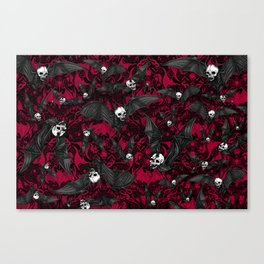 Skelebats - Blood Bath Canvas Print
