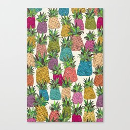 West Coast pineapples Canvas Print