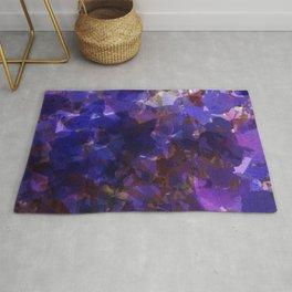 Deep Purple Violets Rug