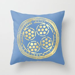 union street: true blue Throw Pillow