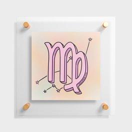 Virgo Symbol Floating Acrylic Print
