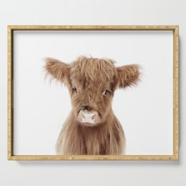 Baby Highland Cow Portrait Serving Tray