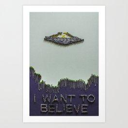 030: X-Files - 100 Hoopties Art Print