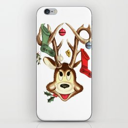 Reindeer Antlers and Christmas Stockings  iPhone Skin