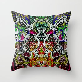 Crowning the clown Throw Pillow