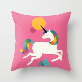 To be a unicorn Throw Pillow