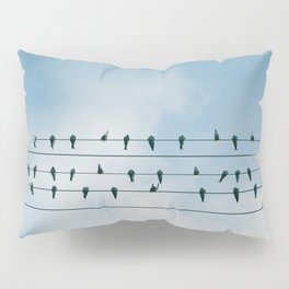 Birds on a wire Pillow Sham