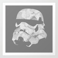 stormtrooper Art Prints featuring Stormtrooper by DanielBergerDesign