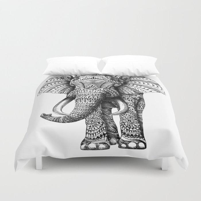 Ornate Elephant Duvet Cover