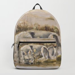 Totem wolf Sunset Backpack