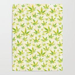Weed OG Kush Pattern Poster