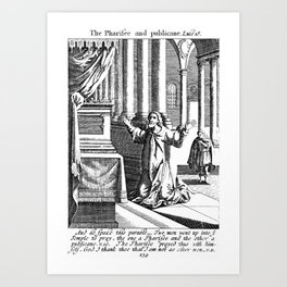 The Pharisee and the Publican. Art Print