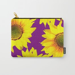 Sunflowers on a purple background - summer mood - #Society6 #buyart Carry-All Pouch