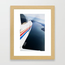 Cessna in Flight, Propeller, Lakeshore Framed Art Print
