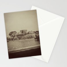 Chicago Buckingham Fountain Sepia Photo Stationery Cards