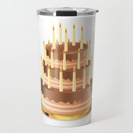 Big chocolate cake Travel Mug