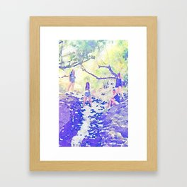 In The Woods Framed Art Print