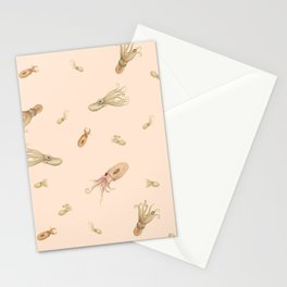 Cephalopods on Blush 1 Stationery Cards