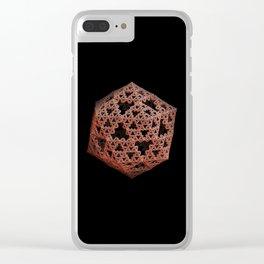3D Fractal Icosahedron Clear iPhone Case