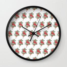 The Good Life #pattern #botanical Wall Clock