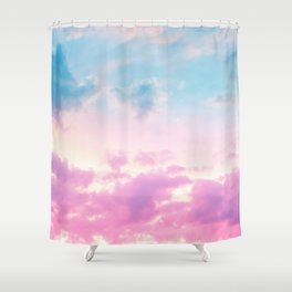 Unicorn Pastel Clouds #3 #decor #art #society6 Shower Curtain