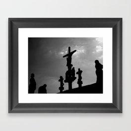 Guéhenno calvary Framed Art Print