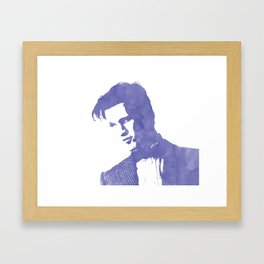 11th Doctor Who in Blue Framed Art Print