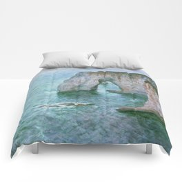 Claude Monet, French, 1840-1926 Manne-Porte, Etretat Comforters