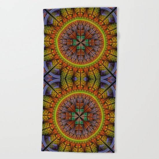 Groovy tribal pattern star Beach Towel