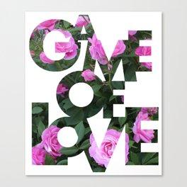 Game Of Love (Signature)   Canvas Print