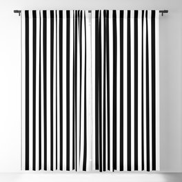 Abstract Black and White Vertical Stripe Lines 15 Blackout Curtain