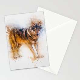 Timber Wolf Stationery Cards